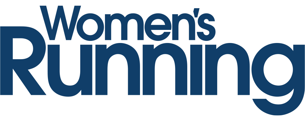 blue logo for woman running magazine in the UK